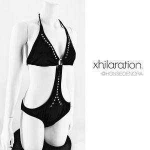 NWOT Xhilaration Black Studded Monokini